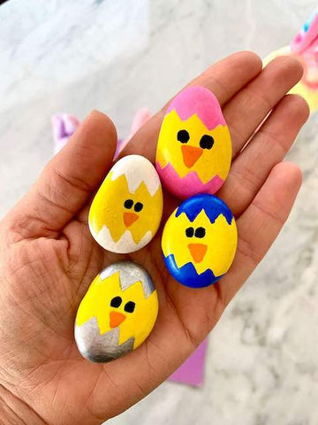 3 Easy Rock Painting Ideas For Kids This Easter Creative Husky
