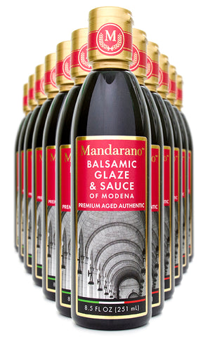 Mandarano Balsamic Glaze & Sauce - Aged 5 Years (Case of 12 bottles). Special Pricing + Free Shipping