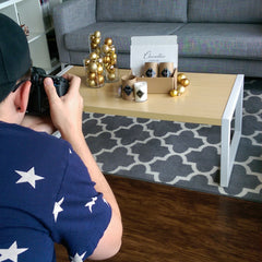 Holiday Scented Candle Photo Shoot