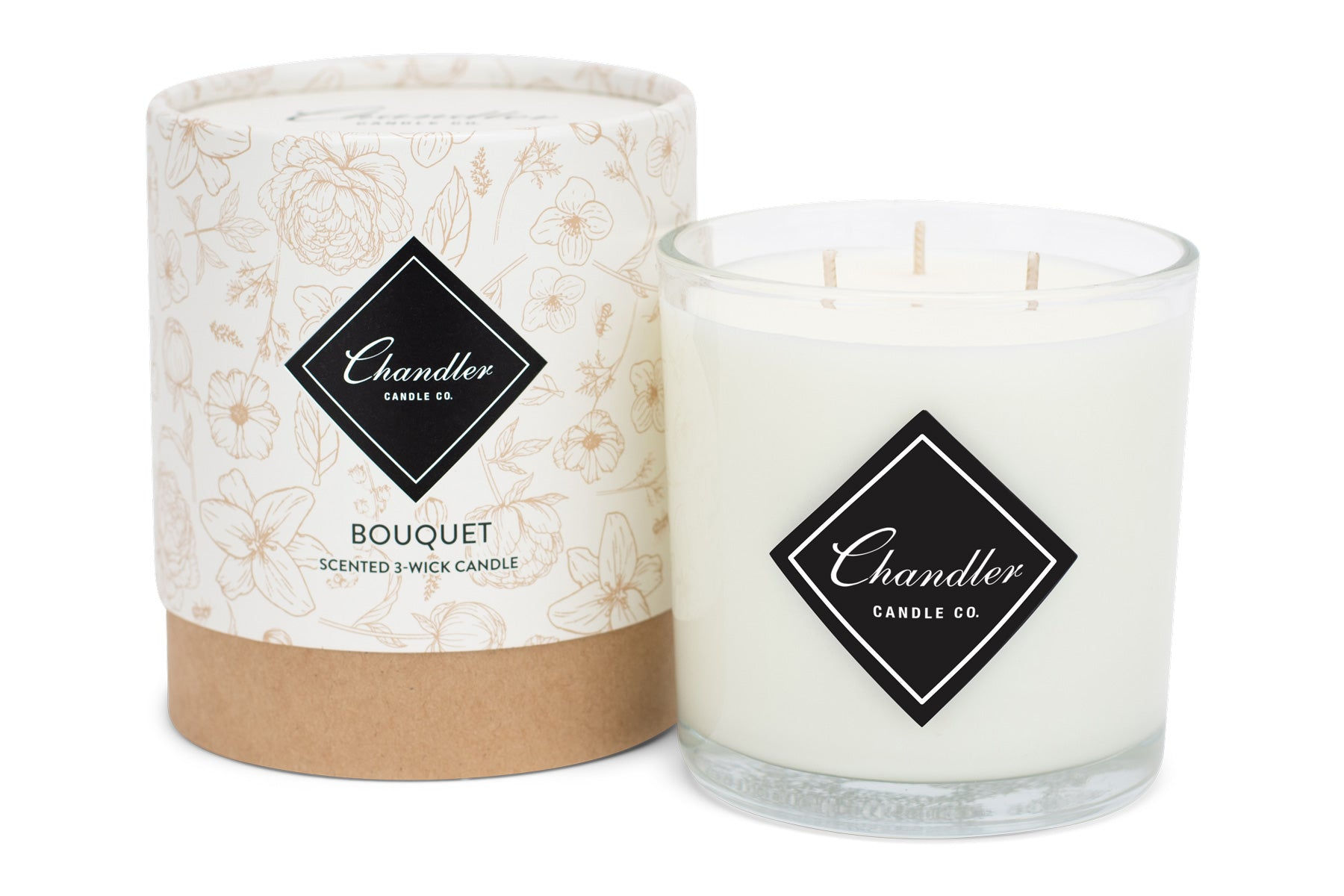 Large 3-Wick Bouquet Scented Candle