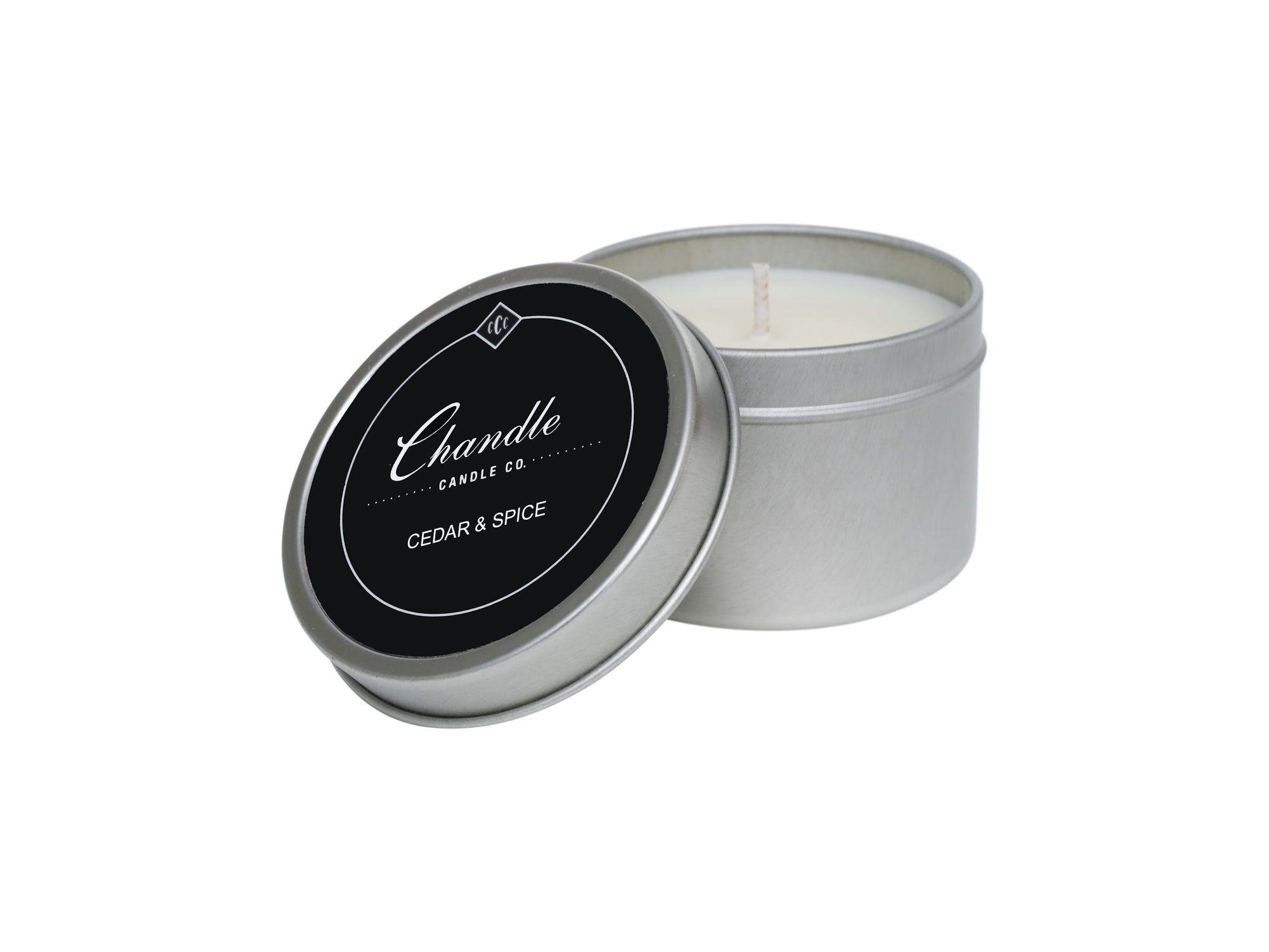 Cedar & Spice scented Travel Tin Candle