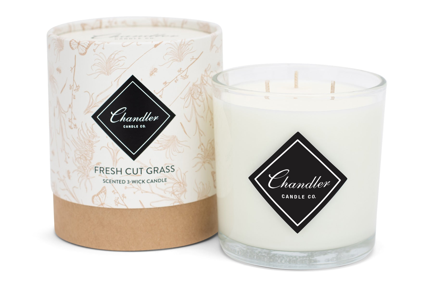 Large 3-Wick Fresh Cut Grass Scented Candle
