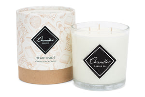 Large 3-Wick Fireplace Hearthside Scented Candle