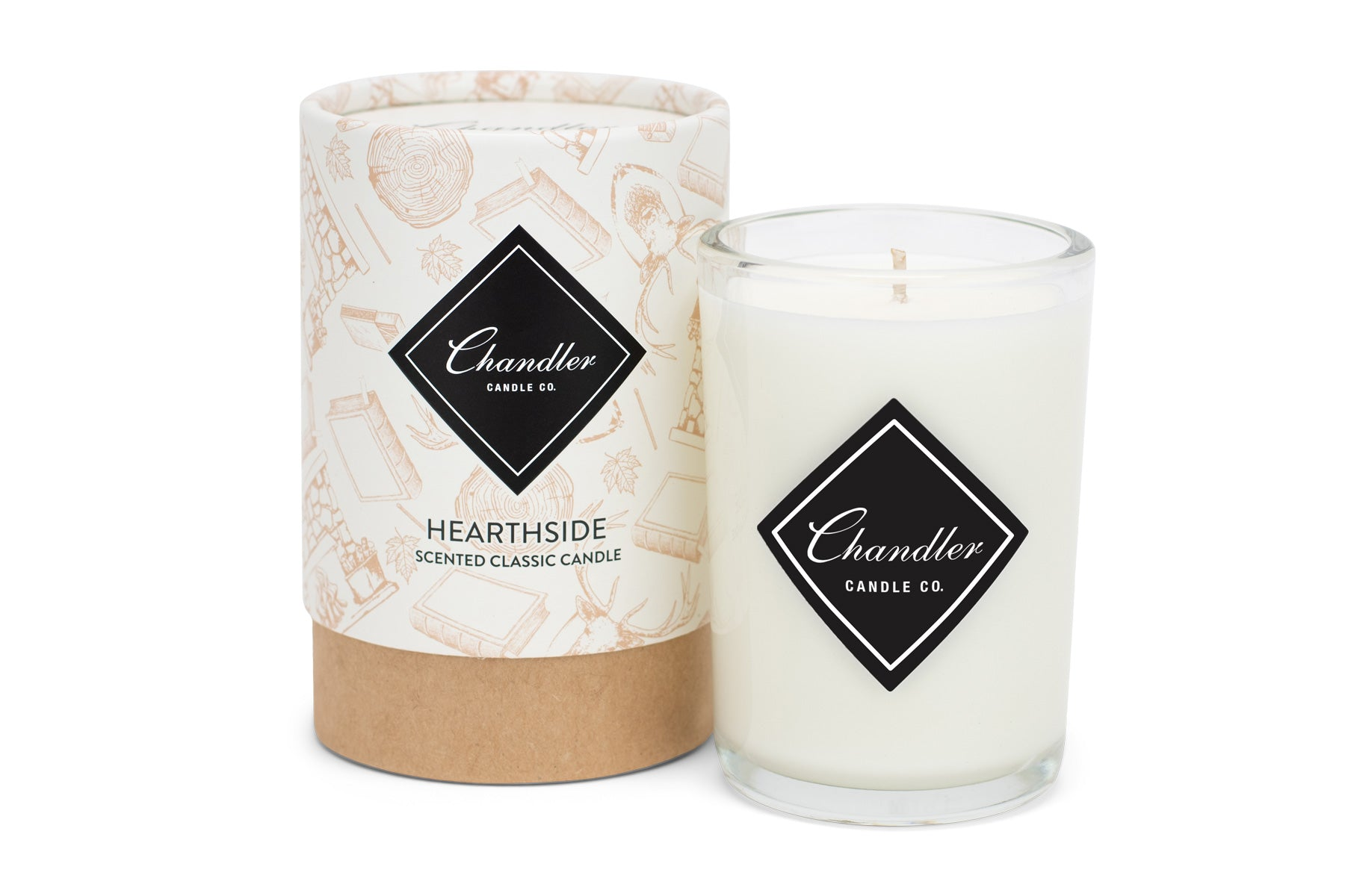 Hearthside Fireplace Scented Candle