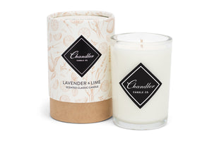 Lavender & Lime Scented Candle