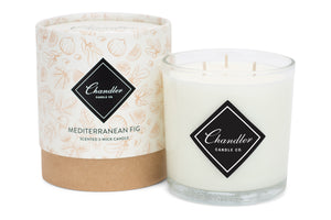 Large 3-Wick Mediterranean Fig Scented Candle