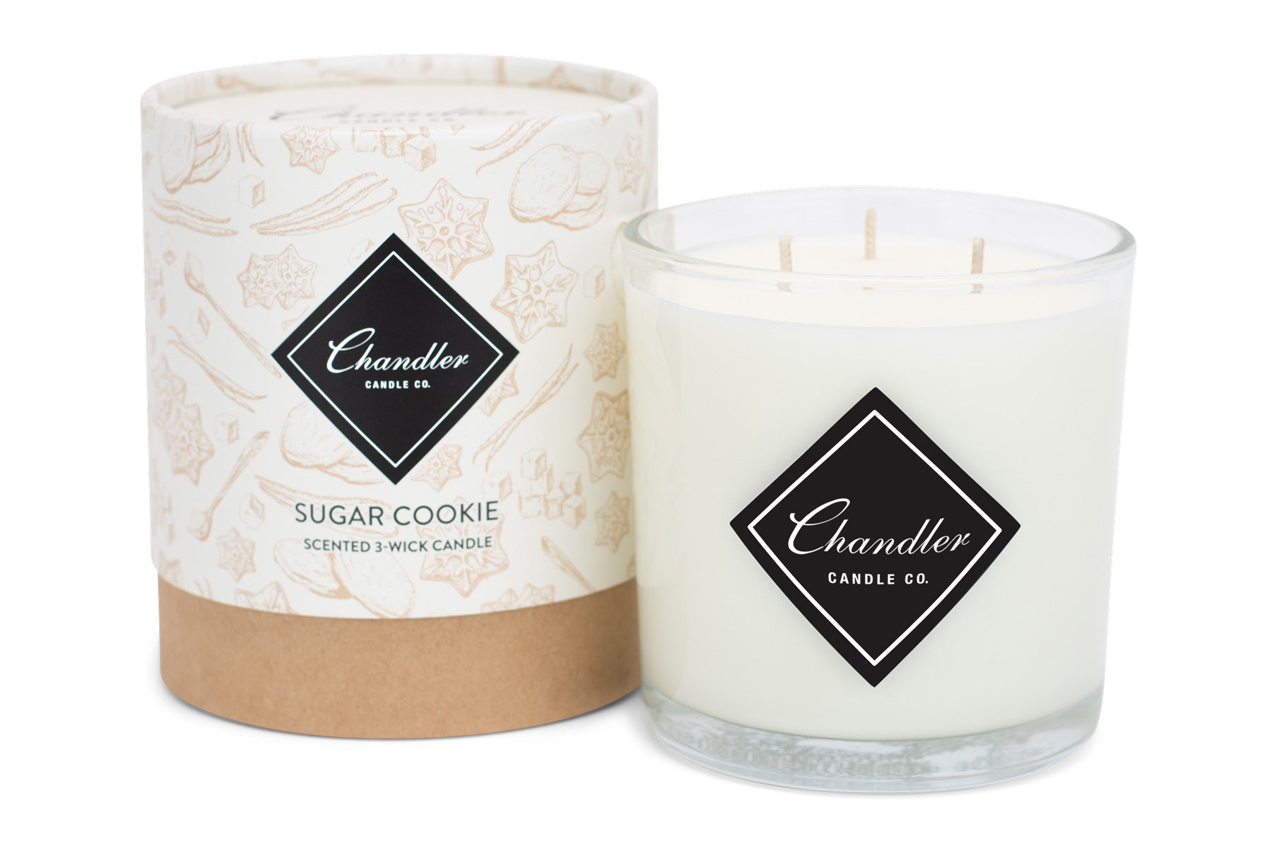 Large 3-Wick Sugar Cookie Scented Candle