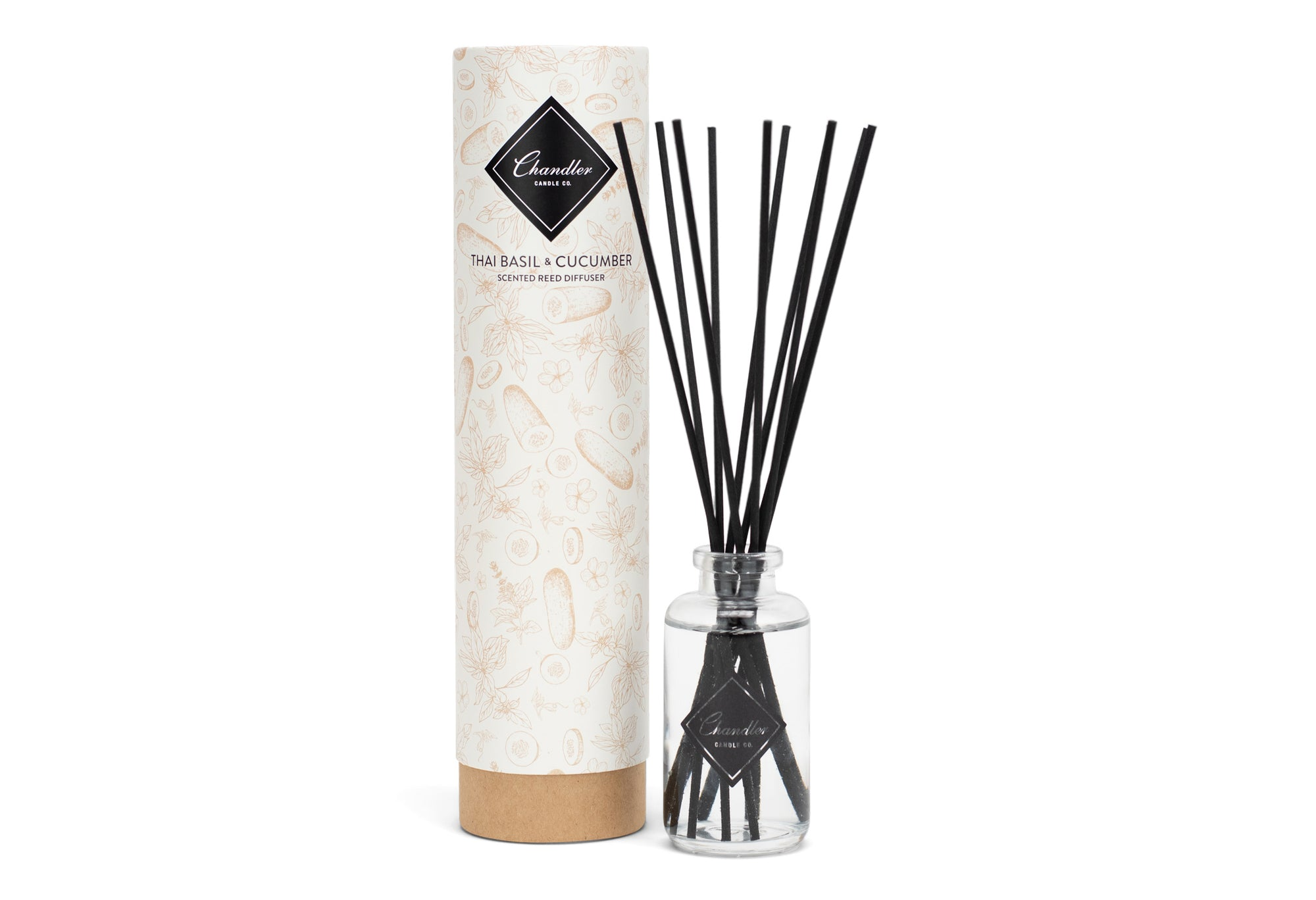 Thai Basil and Cucumber Scented Reed Diffuser