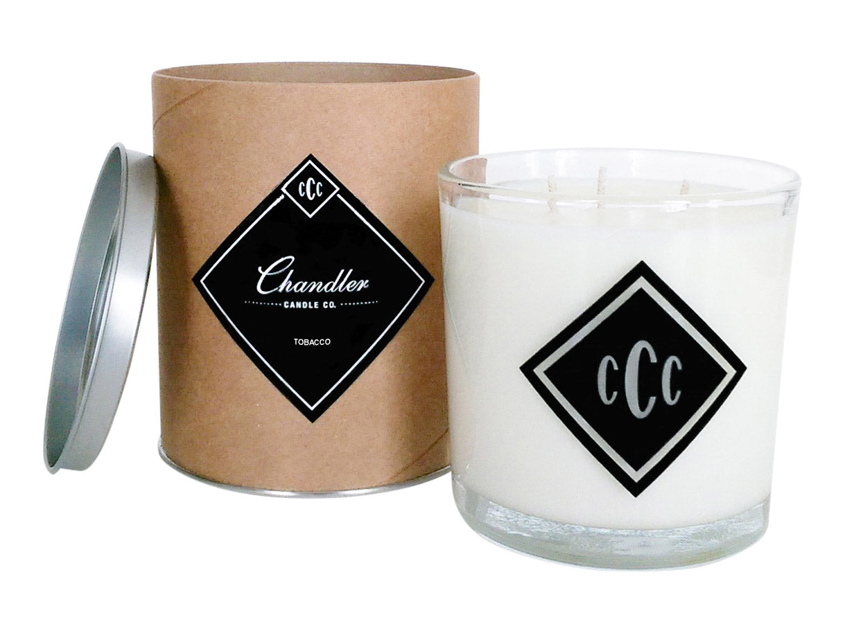 Tobacco and Amber Large 3-Wick Scented Candle