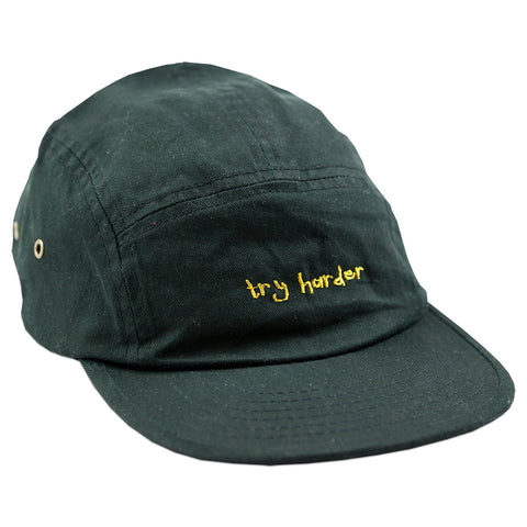 Try Harder 5 Panel (Black)
