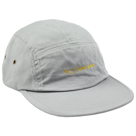 Try Harder 5 Panel (Grey)