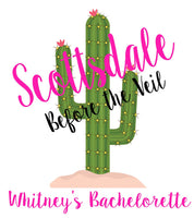 Bachelorette Hangover Kit, Scottsdale Bachelorette Hangover Kit, Oh Shit Kit, Drawstring Favor Bag, Cactus Wedding