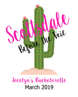 Scottsdale Bachelorette Party, Scottsdale Bach, Bachelorette Gift Bag, Scottsdale Arizona, Bridal Party Gift Bag