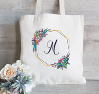 Monogram Tote Bag Bridesmaid, Wedding Welcome Tote, Bridal Party Tote Bag, Wedding Favors, Canvas Tote Bag for Wedding