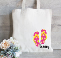 Girls Weekend Tote Bag, Beach Bag for Girls, Gift for Girls, Flip Flop Tote Bag, Personalized Tote Bag, Beach Tote Bag, Girls Get away