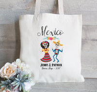 Mexico Wedding Tote Bag, Destination Wedding in Mexico, Hotel Welcome Bags, Guest Bags for Hotel, Favors for Wedding, Fiesta Wedding