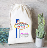 Las Vegas Favor Bags, Drawstring Favor Bags, Bachelorette Party favor bags, Muslin favor Bags, Party favor bag