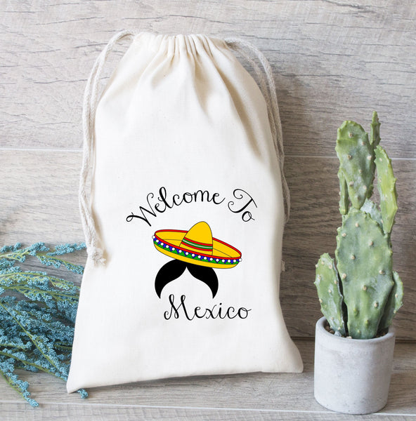 Mexico wedding favor bag, Wedding Favor Bag, Drawstring favor bags,  Destination Wedding Mexico