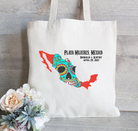 Mexico Wedding Totes, Mexico Totes, Mexico Bachelorette, Mexico Destination Wedding Welcome Totes, Custom Tote Bag, Fiesta Totes