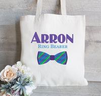 Ring Bearer Gift, Gift for Ring Bearer, Gift Tote Bag for boy, Flower Girl tote bag, Wedding Welcome Gift Bag, Backpack