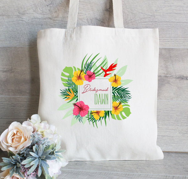 Bridesmaid Tote Bag, Gift for Bridesmaid, Maid of Honor Gift Tote, Shoulder Bag for Bridesmaid, Wedding Welcome Tote Bag, Hotel Guest Bag
