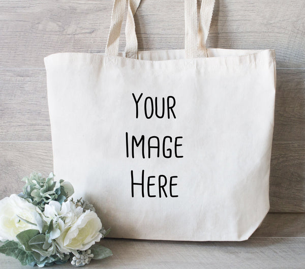 Photo Tote Bag, Mothers Day Gift Bag, Promotional tote bag, Custom Tote Bag, Promotional Tote, Shopping bags with your logo