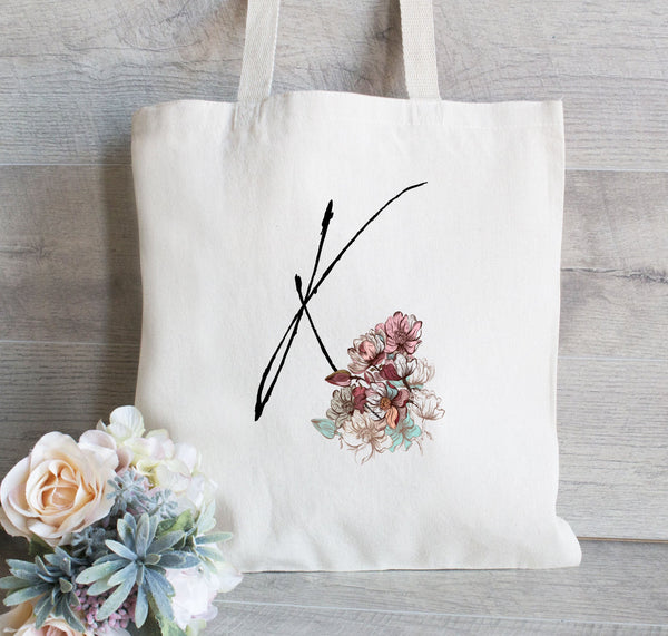 Bridesmaid Tote Bag, Vintage Floral Bridesmaid Tote, Personalized Bridesmaid Tote Bag, Monogram Tote