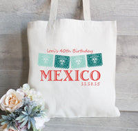 Mexico Flag Tote Bags, Wedding Welcome Tote Bag, Destination Wedding Favor, Mexico Wedding, Fiesta Wedding, Wedding Suite
