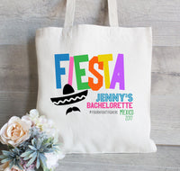 Fiesta Party, Cinco De Mayo, Mexico Bachelorette Party, Canvas Tote Bag, Beach Tote, Personalized Bachelorette Totes