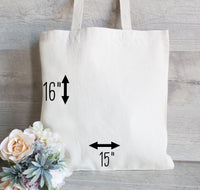Bridesmaid gift tote bag, Personalized Initial Tote Bag for Wedding, Gifts for Bridal Party