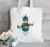 Wedding Welcome Bags set of 25, Bienvenidos, Wedding Favor Bags, Pineapple Welcome Bag, Hotel Guest Bags, Bridesmaid Totes