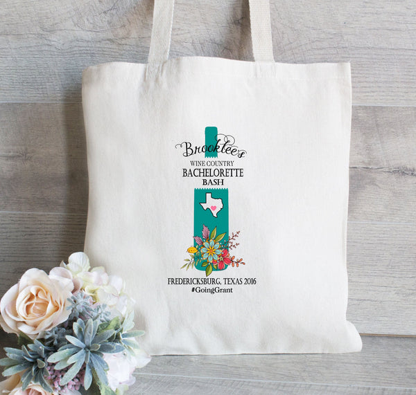 Wine Country, Bachelorette Tote Bag, Bachelorette Party Tote Bag, Bridal Shower Party Favors, Wine country Bachelorette Party, Totes for her