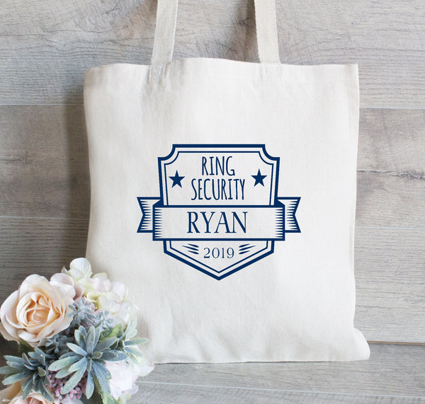 Ring Security Tote Bag, Backpack for Boys, Ring Bearer Gift Bag, Flower Girl Tote Bag, Gift for Wedding Party, Ring Holder, Boy Tote Bag