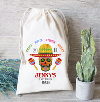 Last Fiesta, Mexico Favor Bags, Bachelorette Favor Bags, Drawstring Bags, Personalized Skull Bags, Maracas, Oh Shit Kit