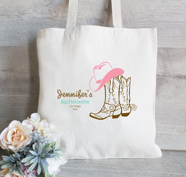 Nashville Bachelorette Party tote bag, Country Bachelorette, Bachelorette Favor, Cowgirl Bach