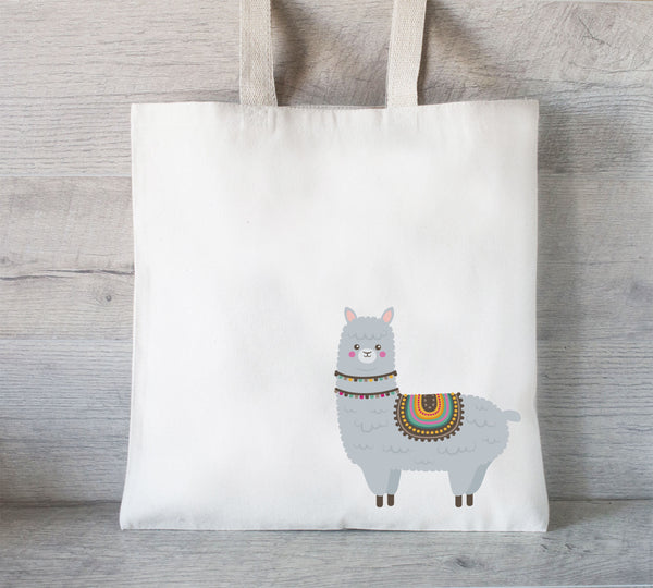 Tote bag with Llama , Grocery Tote Bag, Alpaca Bag, Llama Tote Bag, Shopping Bag, Book Tote, Animal Lover Gift