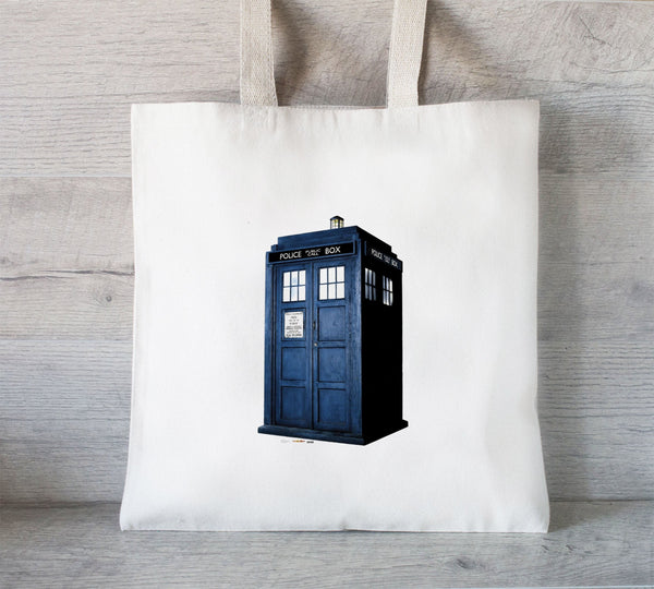 Tardis Dr Who Phone Booth, England Phone Booth, Police Box Tote Bag