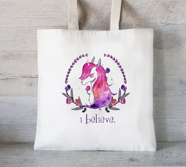 Unicorn Tote Bag, Slumber Party Gift, Colorful Unicorn Gift, Personalized Unicorn gift Bag