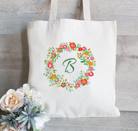 Monogrammed tote Bag, Tote Bag for Bridesmaid, Personalized Tote, Wedding tote bag, Classy Wedding Tote Bag