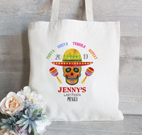 Mexico Fiesta Bachelorette Party Tote Bags, Personalized Tote Bags, Sugar Skull Tote Bag, Wedding Welcome Tote Bags