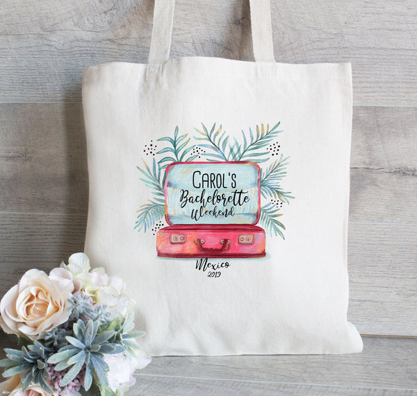 Custom Tote Bags, Destination Bachelorette, Bachelorette Hangover Kit, Mexico Wedding Favor, Bridal Shower Party, Destination Wedding Favors