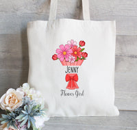 Flower Girl Tote Bag, Wedding Favor Bag, Flower Girl Bag, Wedding Welcome Bag, Wedding Tote Bag