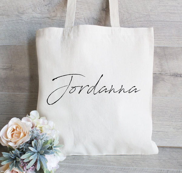 Bridesmaid Tote Bag, Wedding Welcome Tote Bag, Personalized Tote for Wedding, Bridal Party Gift Bag