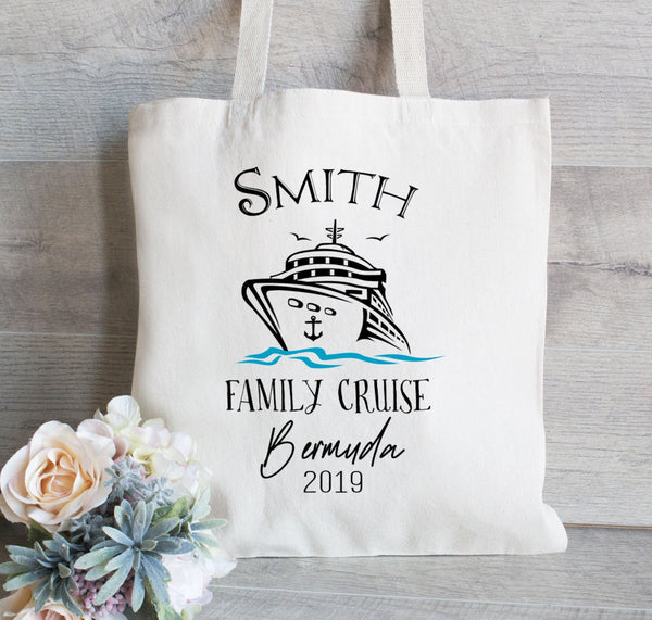Family Cruise Tote Bags, Family Vacation Bags, Boat Tote, family Reunion Bag, Gift For Guest, Hotel Tote Bags, Destination Bags