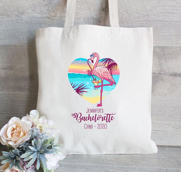 Flamingo Bachelorette Tote Bag, Bachelorette Bash, Girls Weekend Tote Bag, Beach Tote, Margarita, Party Totes