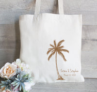 Wedding Welcome Tote Bag, Beach Bag, Destination Wedding Favor, Bags for Guests, Bridesmaid Tote Bags