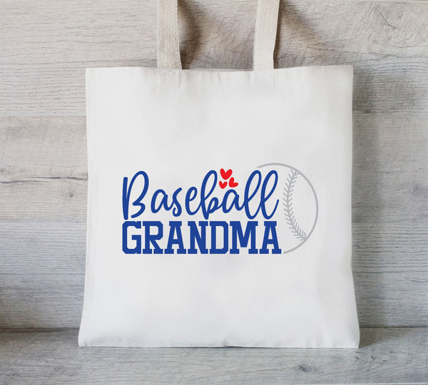 Baseball Grandma, Baseball lover tote bag, Tote Bag for Baseball, Gift for Granny, Baseball season, Grocery Tote, Snack Bag