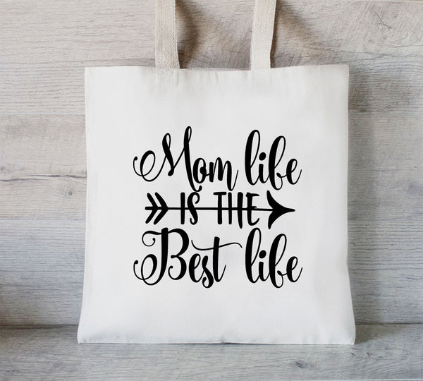 Mom Life is the Best Life tote bag, Mom Tote Bag, Personalized Tote, Grocery Bag, Best Life, Mothers Day Gift Bag