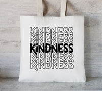 Kindness tote bag, Custom Tote Bag, Promotional Tote, Shopping bags with your logo, Trade Show Gift Bag