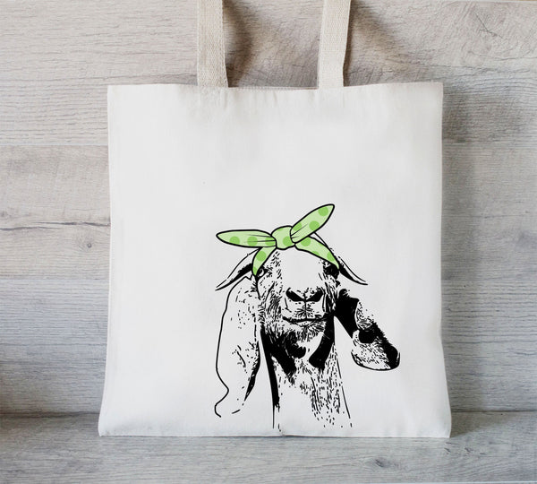 Goat tote bag, Custom Tote Bag, Promotional Tote, Shopping bags with your logo, Trade Show Gift Bag
